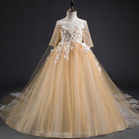 Champagne Flower Girl Dresses