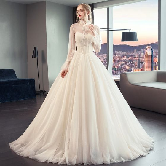 Puffy Sleeve Wedding Dress