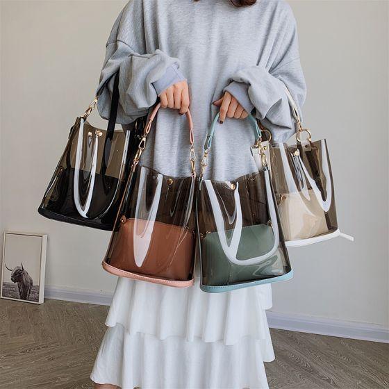 Transparent Handtasche Umhängetasche Schultertaschen 2021 PVC Damentaschen