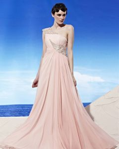 Strapless One Shoulder Wing Pattern Embroidery Beading Sleeveless Floor Length Tencel Woman Evening Dresses
