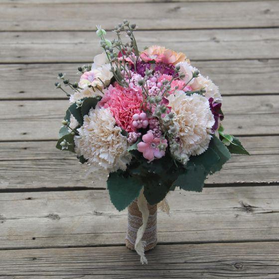 Hermoso Multi-Colors Boda Flor 2019 Perla Flores Artificiales Ramos de novia