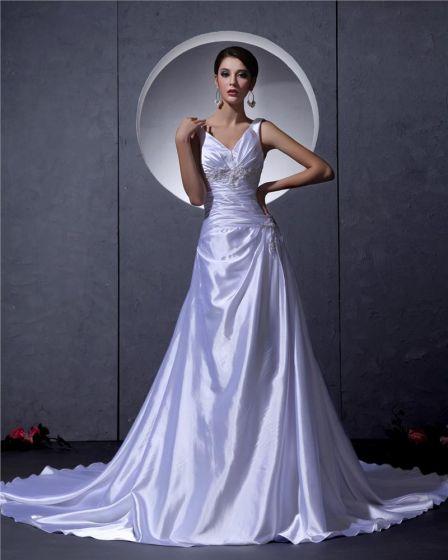 A-linie Riemen Hochzeitskleid Brautkleider
