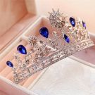 Amazing / Unique Royal Blue Bridal Jewelry 2017 Metal Rhinestone Beading Crystal Headpieces Wedding Prom Accessories