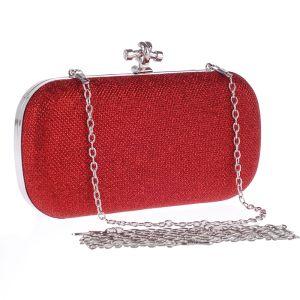 Eenvoudige Rode Metaal Handtassen 2018