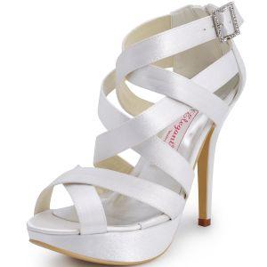 Summer New Roman Shoes Wedding Shoes Waterproof Bandage