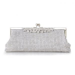 Fonkelende Diamant Handtas Luxe Full Diamanten Zak Avondtasje Dame Banket Handtas