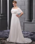 Beading Sash Court Plus Size Bridal Gown Wedding Dress