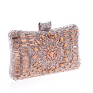Fashion Gold Rhinestone Square Clutch Bags 2020