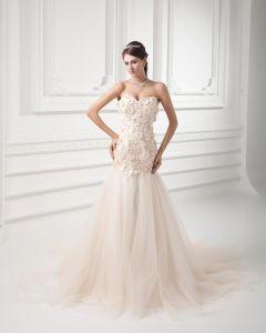 Pociag Tiul Aplikacja Linke Kochanie Sad Sukienki Ślubne Suknie Ślubne Syrena