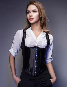 Black Sleeveless Shoulders Corsets