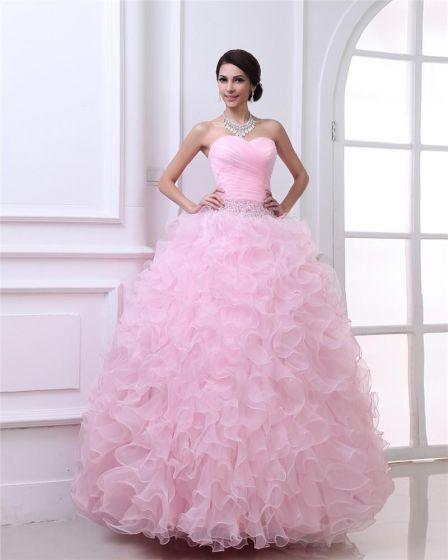 Vestido De Bola Vestidos De Gala Heming Cariño Palabra De Longitud Organza Mujer Quinceañera