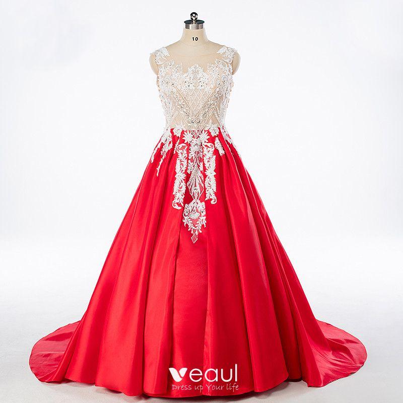 Rinestone Satin Prom Formal Dresses
