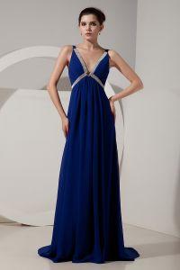 2015 Epidemic V-neck Zipper Floor-length long Evening Dresses