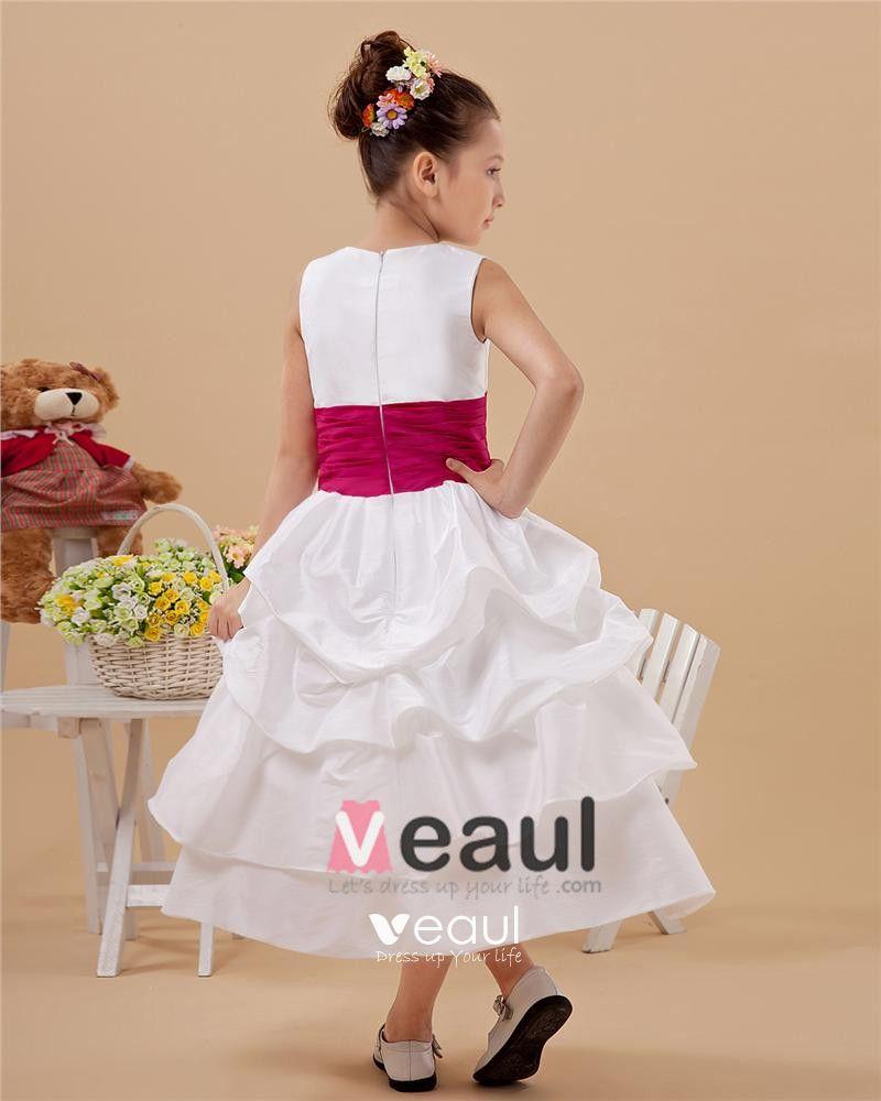Lovely Satin Handmade Flower Girl Dresses