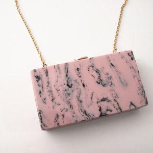 Mode Pearl Rosa Drucken Heimkehr Cocktail Clutch Tasche 2018
