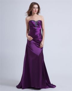 Taffeta Sweetheart Floor Length Prom Dresses