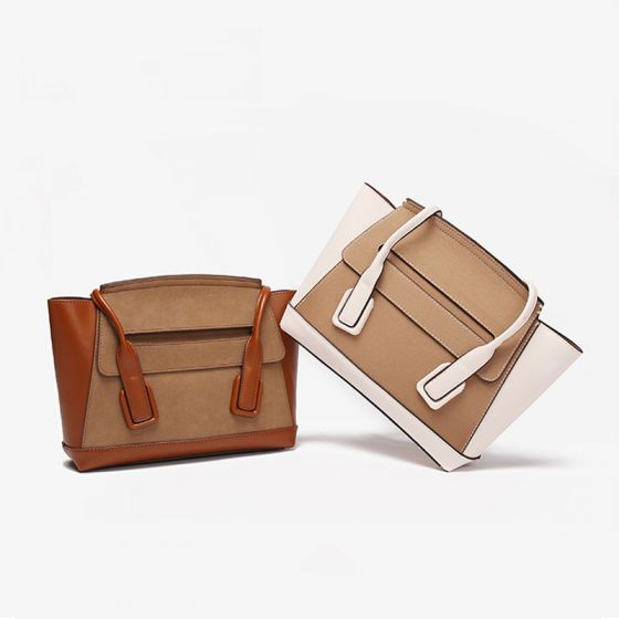Zwei Töne Quadratische Tragetasche Schultertaschen 2021 PU Freizeit Damentaschen