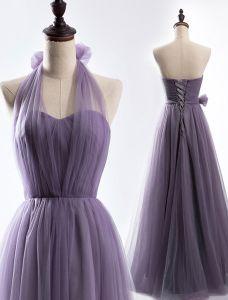 Ein Kleid, Dress Up In 4 Möglichkeiten. Einfache Tüll Brautjungfer Kleider