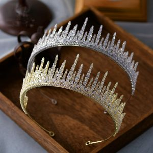 High-end Rhinestone Tiara Hårpynt 2020 Legering Bryllup Accessories