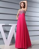 Chiffon Silk Like Satin Silk Beading Sweetheart Sleeveless Backless Zipper Floor Length Pleated Evening Dress