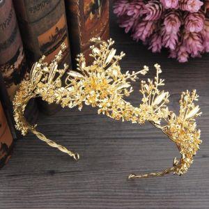 Sparkly Gold Tiara 2018 Metal Wedding Accessories