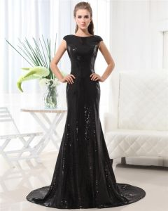 Hübscher Spitze Pailletten Ärmellos Bodenlange Evan Rachel Wood Promi-kleid
