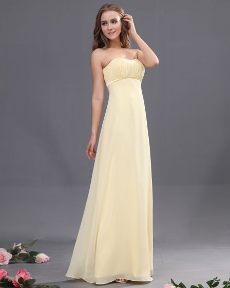 Elegant Empire Sweetheart Ankle-Length Chiffon Bridesmaid Dress