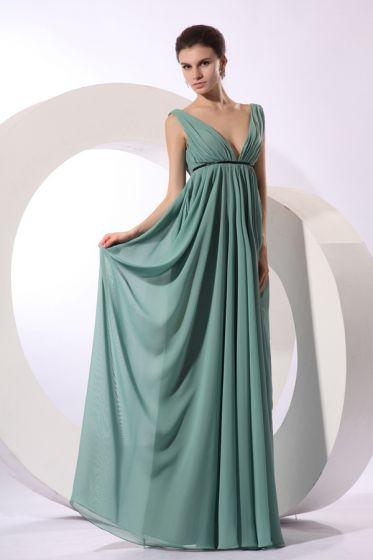 2015 Avant-Garde Floor-length Empire V-neck Bridesmaid Dress