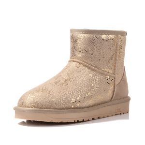 Sparkly Printing Women's Ankle Winter Snow Boots