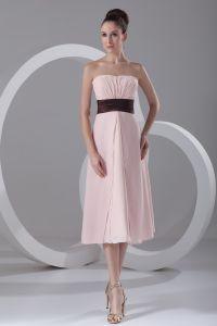 En Mousseline A Volants Bretelles Robe De Demoiselle D'honneur De Longueur De The