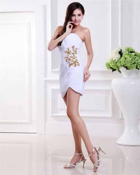 Wzburzyc Haft Satyna Długosc Kochanie Kolano Tanie Sukienki Koktajlowe Sukienki Wizytowe