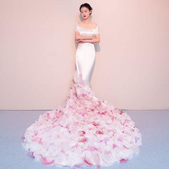 f1dec2ef7ae7 Mermaid Flower Wedding Dress - Flowers Healthy