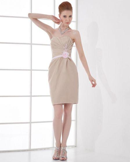 Moda Satynowa Plisowana Kochanie Długosc Uda Tanie Sukienki Koktajlowe
