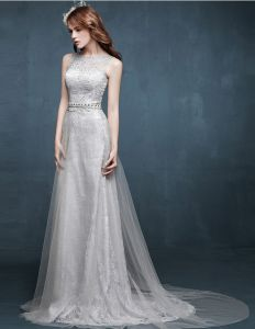 2015 A Linie Spitze Mit Perlen Verziert Langes Abendkleid Des Formalen Kleides