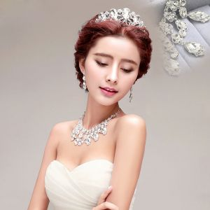 Bridal Necklace / Earrings / Tiara Three-piece