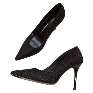 Sparkly Black Evening Party Rhinestone Pumps 2020 8 cm Stiletto Heels Pointed Toe Pumps