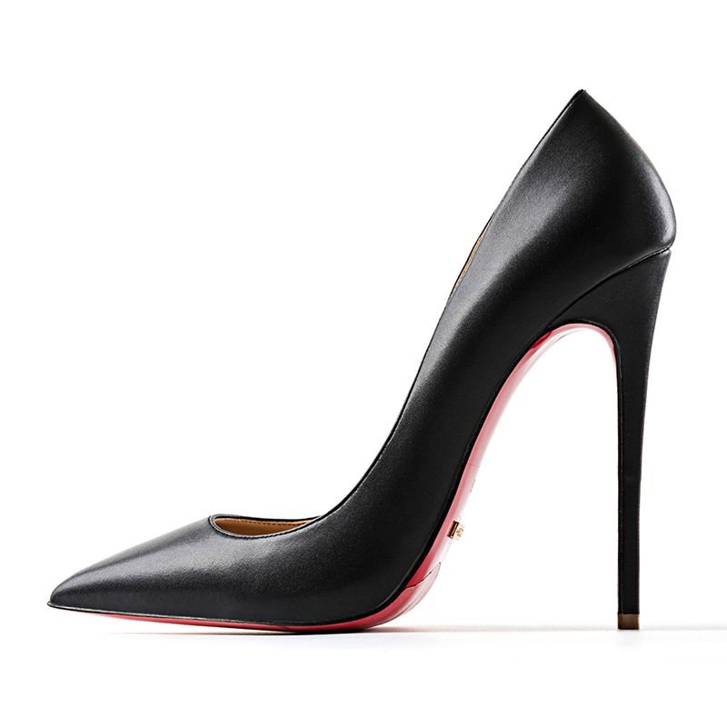 Modern / Fashion Brown Evening Party Pumps 2019 Patent Leather 12 cm Stiletto Heels Pointed Toe Pumps