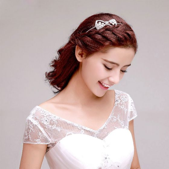 Strass Vlinder Knoop De Bruids Hoofdtooi / Head Bloem / Bruiloft Haar Accessoires / Bruiloft Sieraden