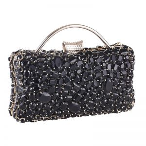 Fashion Black Acrylic Square Clutch Bags 2020