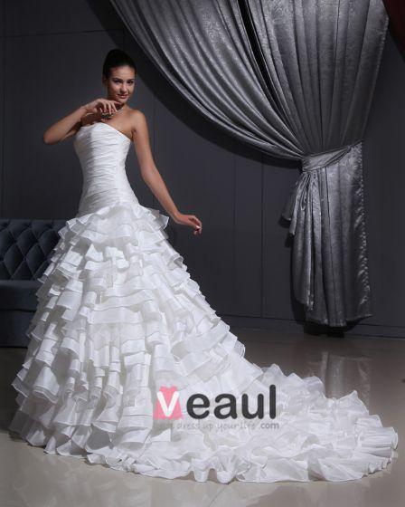 Tu Tuch Fester Schatz Gericht A-linie Brautkleider Hochzeitskleid