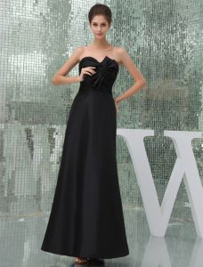 2015 Simple Empire Strapless Sweetheart Pleated Sash With Long Party Dresses
