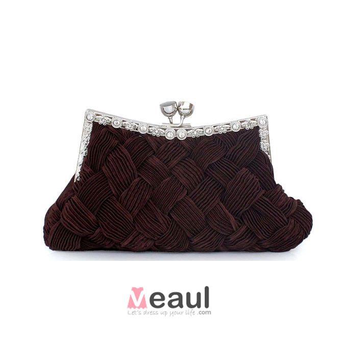 Handvavda Sidenklänning Väska Sweet Lady Liten Väska Brudtarna Paket