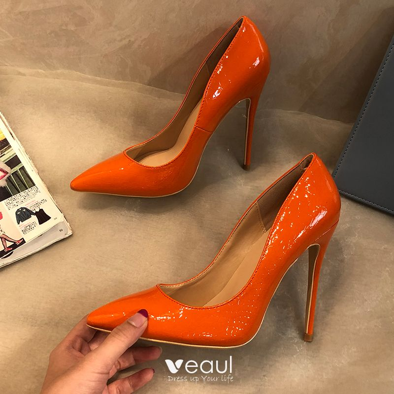 Chic / Beautiful Orange Office Pumps