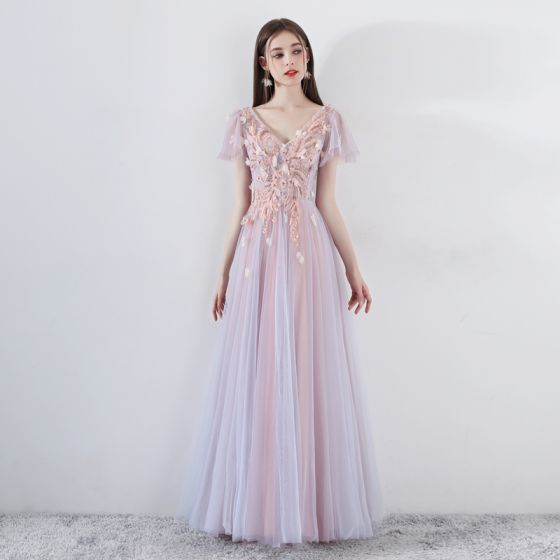 d24acdfbf5 romantic-pearl-pink-prom-dresses-2019-a-line-princess-v-neck-short-sleeve- appliques-lace-beading-floor-length-long-ruffle-backless-formal-dresses -560x560.jpg