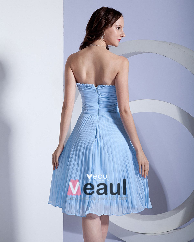 Chiffon Knee Length Bridesmaid Dress Gown