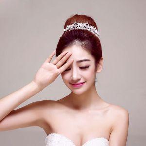 De Facon Circulaire Mariée Couronne / Fleur Tete / Accessoires De Cheveux De Mariage / Bijoux De Mariage