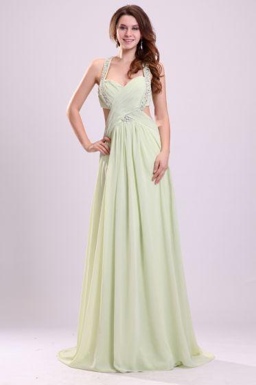 2015 High Quality Straps Zipper Chiffon Elastic Woven Satin Long Evening Dresses