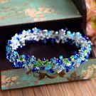 Amazing / Unique Royal Blue Bridal Jewelry 2017 Metal Beading Crystal Rhinestone Headpieces Wedding Prom Accessories