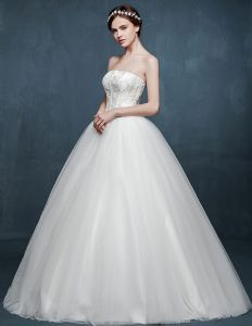 2015 White Fashion Type A Dress Slim Wedding Dress