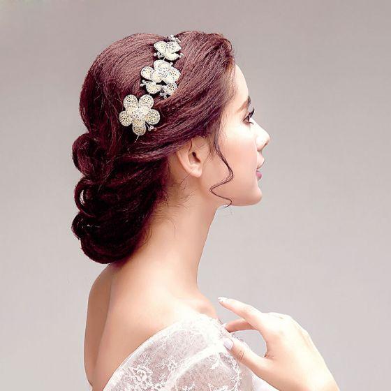 Schmetterling Perlenrhinestone-blumenbrautoberteile / Kopf Blume / Haarschmuck Braut / Hochzeitsschmuck